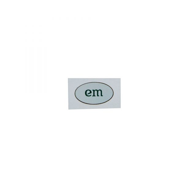 EM_Kin_Sticker_hellgrau_Eußenheimer_Manufaktur_1Stueck_Produktfoto